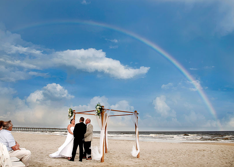 Weddings In Ocean Isle Beach North Carolina Under The Rainbow